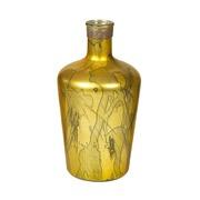 Jarrón Botella de Vidrio Color Dorado 19 x 19 x 38 cm