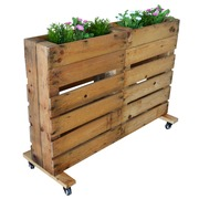 Jardinera Pallet con Ruedas Nature