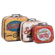 Set 3 Maletas Sportster Vintage en PVC 29 x 33 x 13 cm