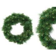 Corona de Navidad 110 Ramas en PVC Verde 45 x 45 x 10 cm