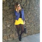 Minifalda color mostaza