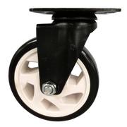 Rueda de PVC Giratoria Doble Rodamiento de Acero
