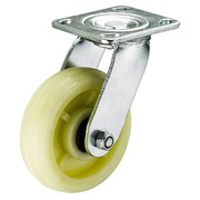 Rueda de Nylon Verde con Doble Rodamiento Giratoria