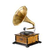 Gramófono Vintage Cuadrado con Grabado 37 x 37 x 65 cm