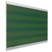 Pizarra Mural Verde Zenit de Acero Vitrificado Pentagrama