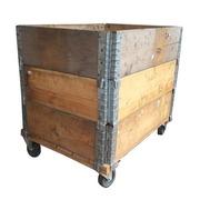 Cajón para Leña con Cercos Usados y Ruedas Ref.CMl896072r