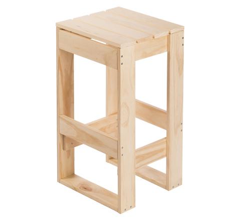 Taburete en madera de pino macizo ref garden002 - Taburetes de madera rusticos ...