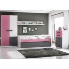 Ambiente Dormitorio Juvenil Color Rosa y Grafito