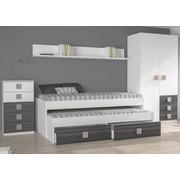 Ambiente Dormitorio Juvenil Modelo Ceniza Tirador Moka