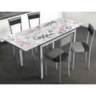 Conjunto Mesa Bisbe II Table Coffe y 4 Sillás Sarín Gris Negro