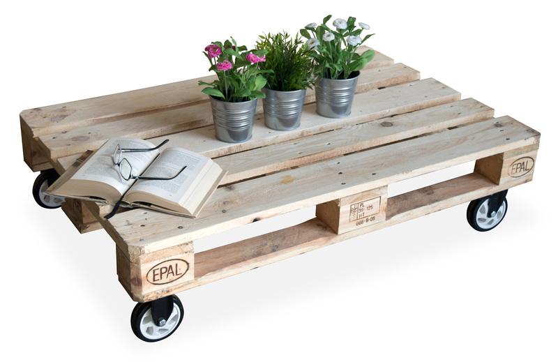 Mesa de centro palet con ruedas giratorias en pvc negro for Amazon muebles terraza