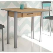 Mesa de Cocina Tipo Libro Caye II Nogal Plata Ref.H218-NOP2
