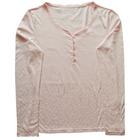 Camiseta Pijama Rosa con botoncitos