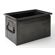 Caja Industrial Vintage Metálica Negra