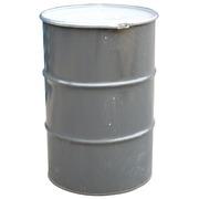Bidón Gris de Metal Usado 60x88 cm