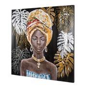 Cuadro Africana al Oleo Sobre Madera 3 x 150 x 120 cm
