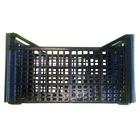 Caja de Plastica Rejillada Usada Negra 30 x 50 x 26 cm