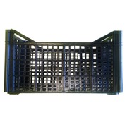 Caja Plastica Rejillada Usada Negra 30 x 50 x 26 cm