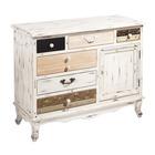 Mueble Recibidor Blanco 6 Cajones 40 x 100 x 80 cm