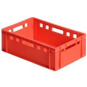 Caja Plástica Cárnica Roja E2 40 x 60 x 20 cm