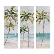 Set de 3 Cuadros al Oleo de Playa 30 x 90 cm