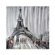 Cuadro París en Lienzo y Aluminio al Oleo 100 x 100 cm
