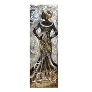 Cuadro Africana III al Oleo Lienzo y Aluminio 50 x 150 cm