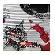 Cuadro Mujer en París al Oleo Lienzo y Aluminio 80 x 80 cm