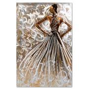Cuadro Mujer al Oleo en Lienzo y Aluminio 80 x 120 cm