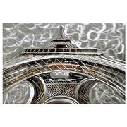 Cuadro Torre Eiffel al Oleo en Aluminio 120 x 80 cm