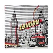 Cuadro London al Oleo en Aluminio 80 x 80 cm