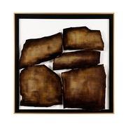 Cuadro Abstracto Digital Marrón 4 x 81 x 81 cm