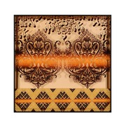 Cuadro Tela Arabescos Marrón Digital 4 x 91 x 91 cm