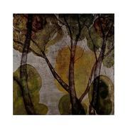 Cuadro Digital Arbol Hojas Verdes 4,5 x 88 x 88 cm