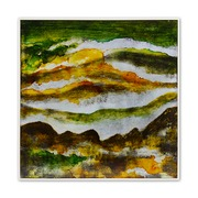 Cuadro en Acrílico Digital Abstracto Verde 4,5 x 63 x 63 cm
