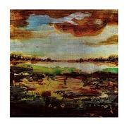Cuadro Digital en Acrílico Abstracto Marrón 4,5 cm x 52 x 52 cm