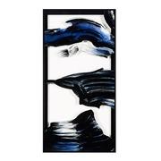 Cuadro Digital Abstracto Azul Negro 4 x 61 x 121 cm