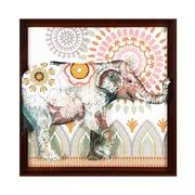 Cuadro Elefante Indú en Acrílico 4 x 71 x 71 cm