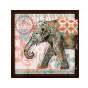 Cuadro Elefante Indú Gris en Acrílico 4 x 71 x 71 cm