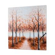 Cuadro Bosque Marrón al Oleo 5 x 100 x 100 cm