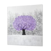 Cuadro Arbol al Oleo Color Purpura 5 x 100 x 100 cm