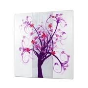 Cuadro Arbol Purpura Flores Rojas al Oleo 5 x 100 x 100 cm