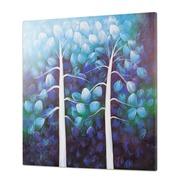 Cuadro Arboles Azules al Oleo 5 x 100 x 100 cm
