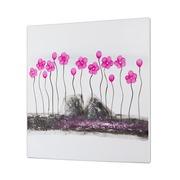 Cuadro Flores Rosa al Oleo 5 x 80 x 80 cm