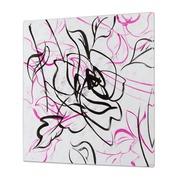 Cuadro al Oleo Flor Negra 5 x 80 x 80 cm