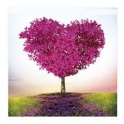 Cuadro Arbol Corazón Impreso en Cristal 80 x 80 cm