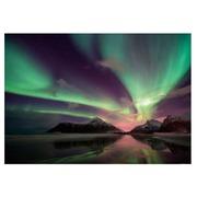 Cuadro Aurora Boreal Fotoimpresión en Cristal A 100 x 70 cm