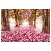 Cuadro Camino de Flores Fotoimpresión en Cristal 120 x 80 cm