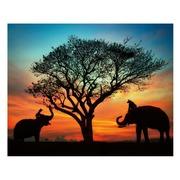 Cuadro Africa Fotoimpresión en Lienzo 3 x 100 x 80 cm