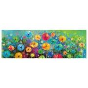 Cuadro Flores Multicolor Fotoimpresión 3 x 150 x 50 cm